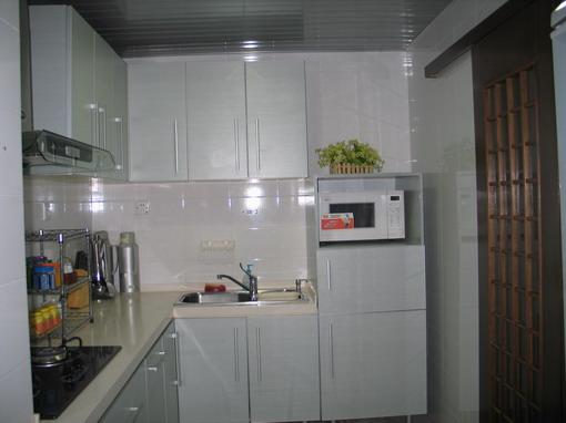 洗衣机冰箱摆放厨房效果图