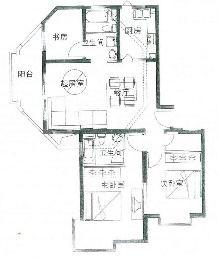 农村平房三室设计图展示图片