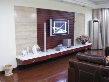 木条电视背景墙效果图