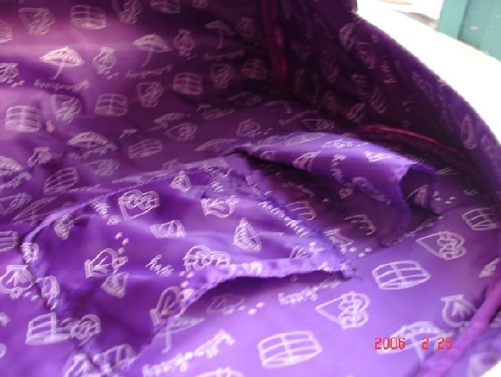 染深紫色头发; 发尾挑染紫色头发;