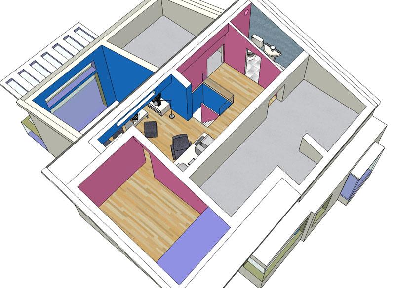 把新家的三维模型兼设计做好了