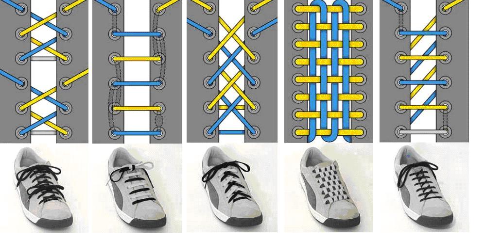 花样系鞋带方法
