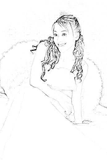 天使铅笔画简单又可爱