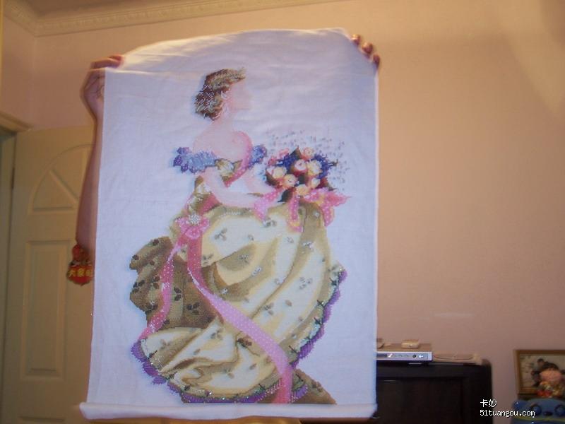 巴黎/现在在绣的春女王,在串珠子和补了