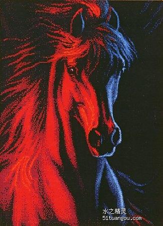 寻关于马的十字绣图图