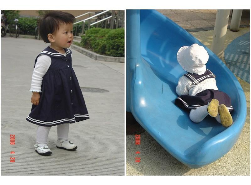 2岁女宝宝服装搭配白色小皮鞋搭配