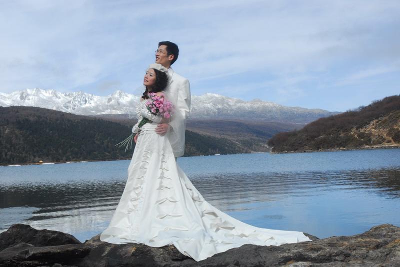 木格措婚纱照系列