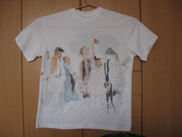 名画家的手工绘画t恤展示)