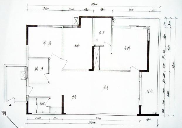 家具总平面图手绘