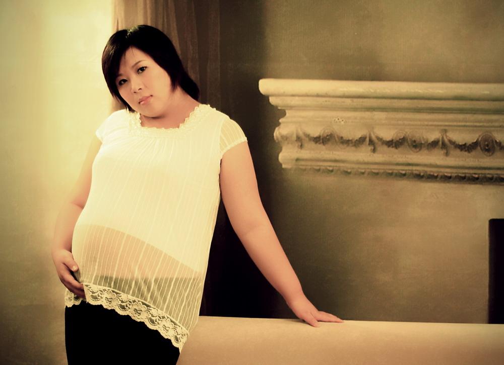 孕妇照白纱发型分享展示图片
