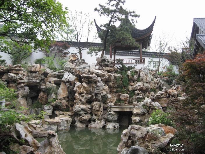 中式庭院--太湖石假山及驳岸图片