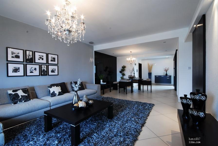 长沙我的家----打造经典黑白灰风格(现代简约+欧式)