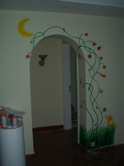 幼儿园门框手绘图