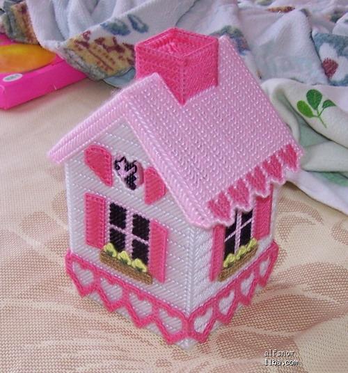 立体绣小房子