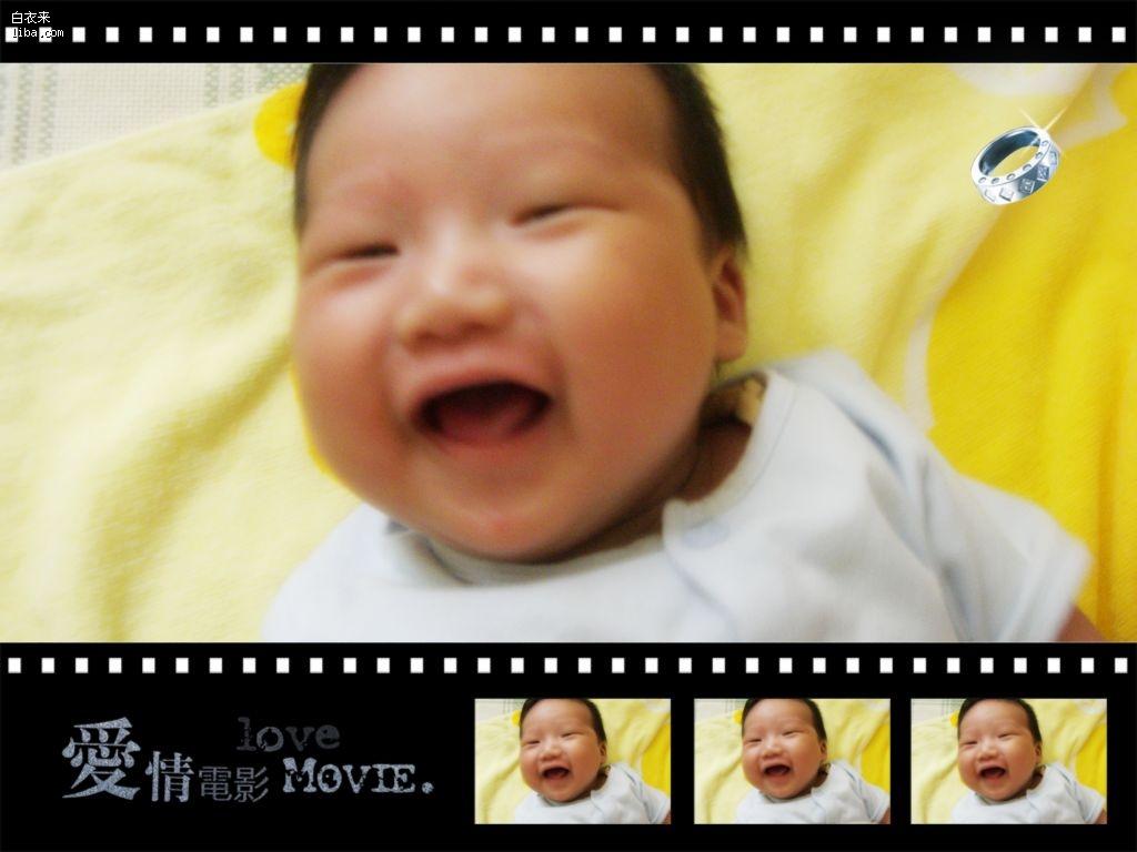 一起来show小眼睛宝宝的可爱的笑容吧
