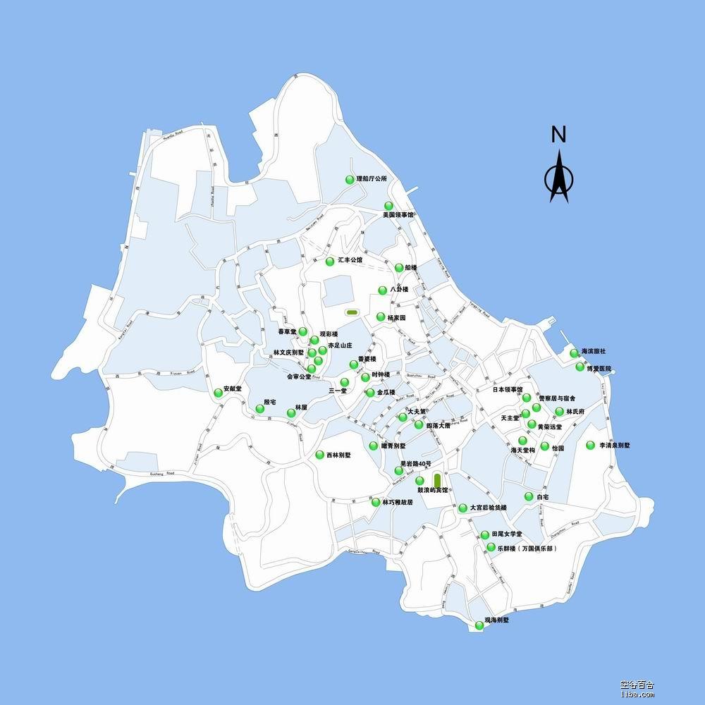 普吉镇中文地图