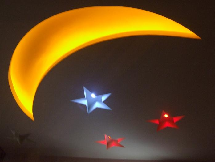 吊顶星星月亮图案