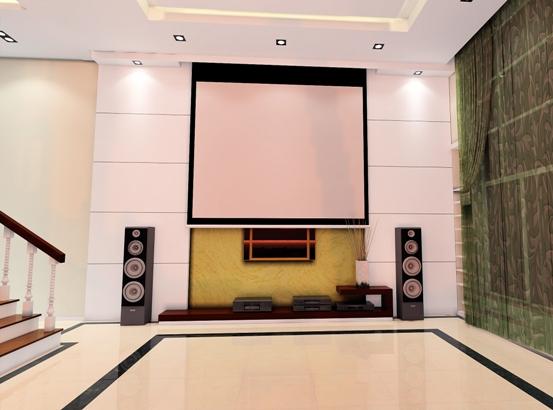 客厅电视投影背景墙