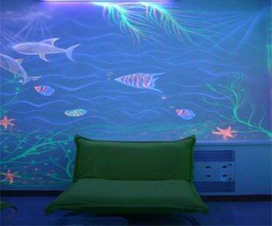 主题:超强手绘~会发光的天花板~天花板上的星空图