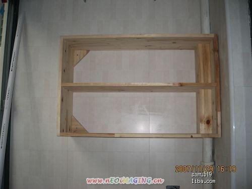 后阳台的小柜子,请木工做的!