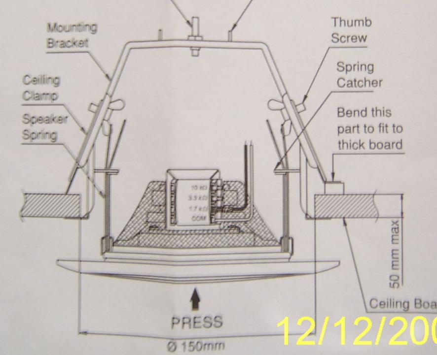 吸顶音箱接线方法