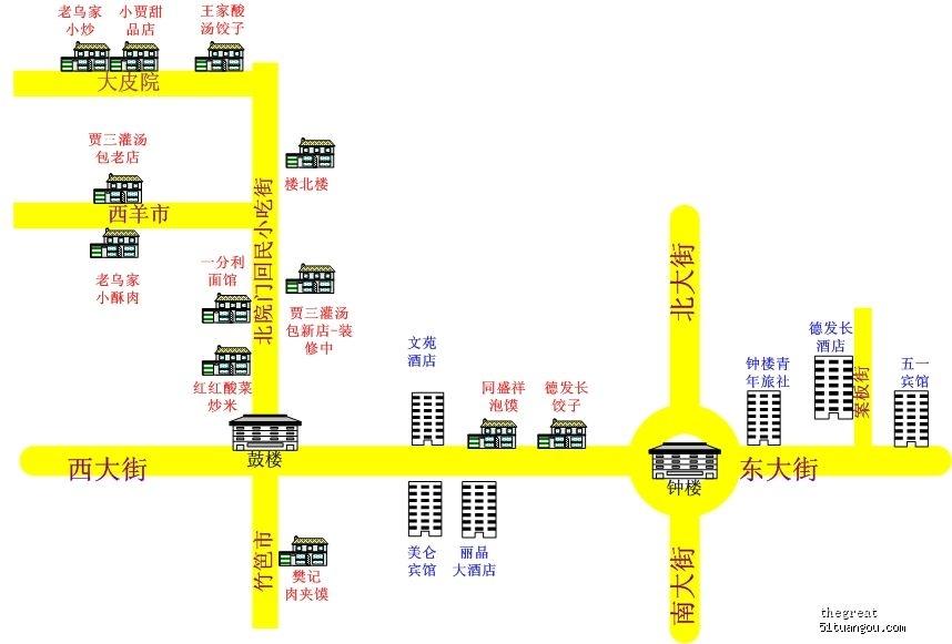 也有坐机场大巴的美仑宾馆地图