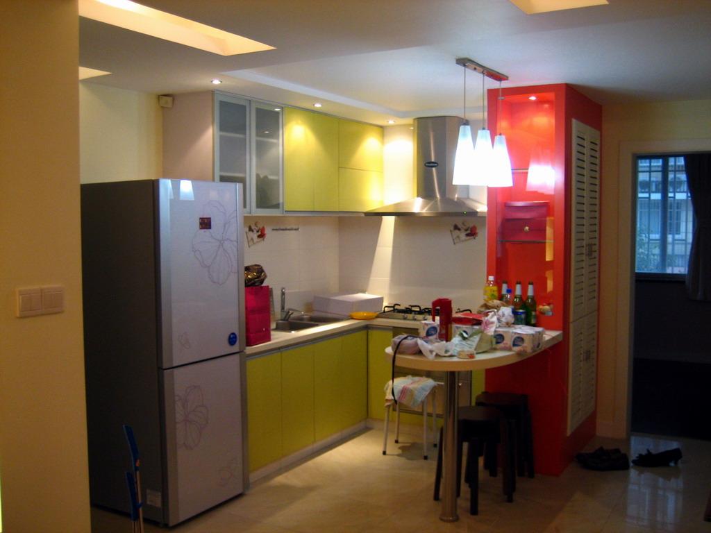 我的田园客厅+欧式卧室+开放式彩色厨房~p6起入住后