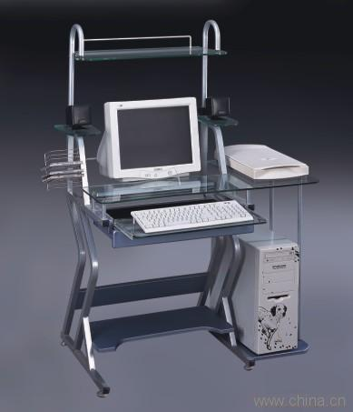 玻璃钢电脑桌安装步骤图