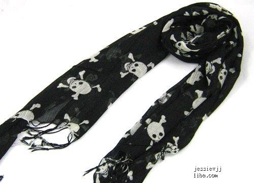 细丝带围巾系法图解