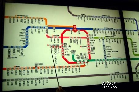 大阪地铁线路图-开贴祝贺,日本赏樱深度游归来图片