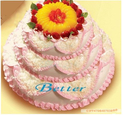 Better蛋糕鲜花店 创意定制生日蛋糕 多层精美婚庆蛋糕精 多图