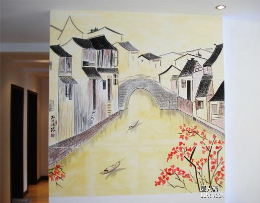 欧式复古墙绘图片