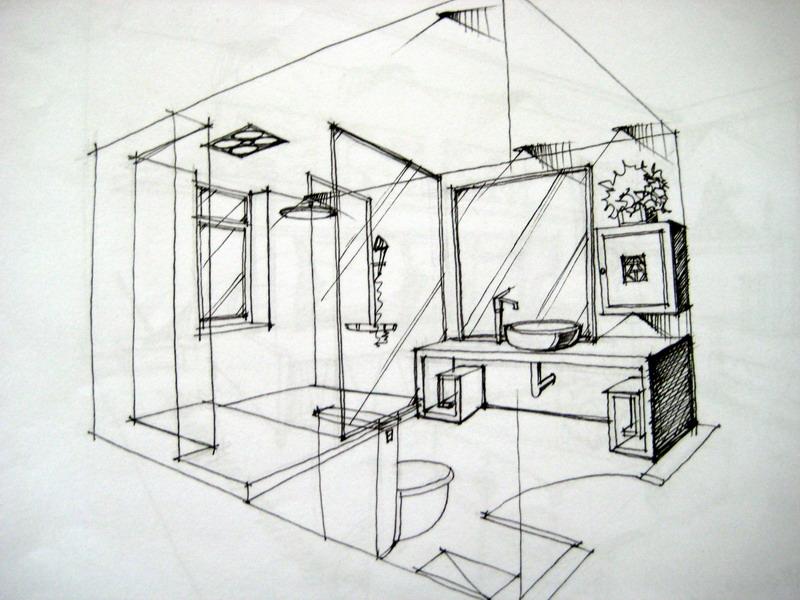 卫生间设计素描_卫生间设计素描分享展示