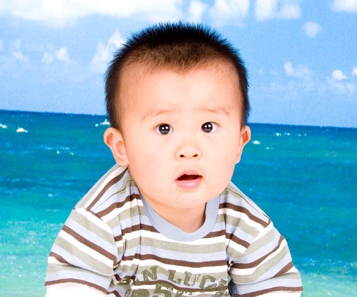 可爱宝宝正脸图片