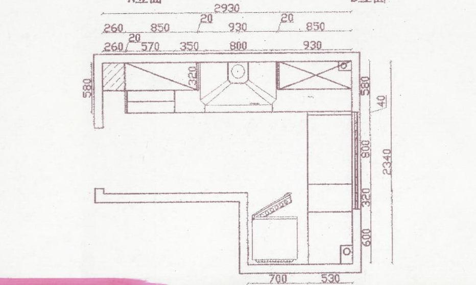 室內設計平面尺寸圖 室內設計平面圖_陽臺柜尺寸圖片