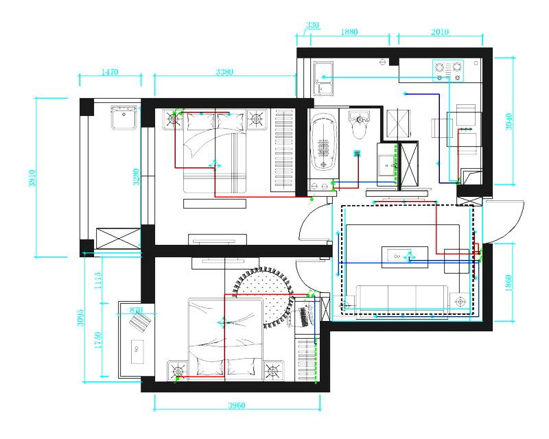 小房子装修效果电路图