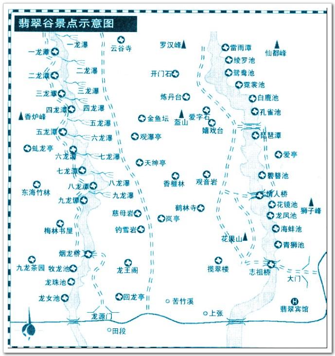 这张便是九龙瀑与翡翠谷的地图