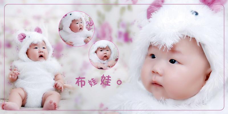 单眼皮小眼睛宝宝的百日照