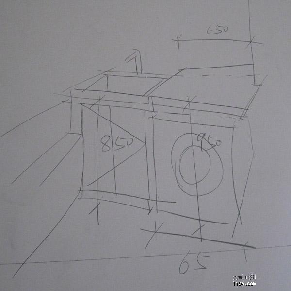 单个家具手绘图速写