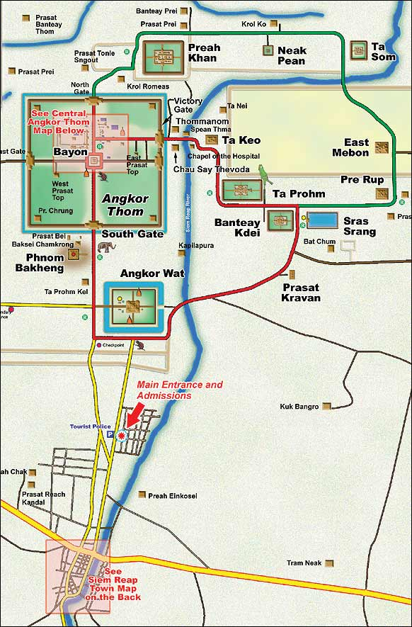 清迈中英文地图