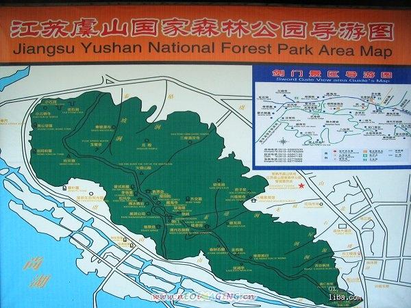 虞山尚湖风景区地图
