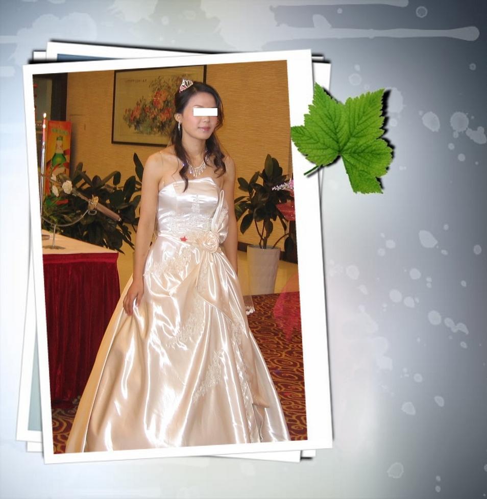 纱 红色旗袍 紫色晚礼服,白色毛披肩转让 给衣衣寻找有缘MM