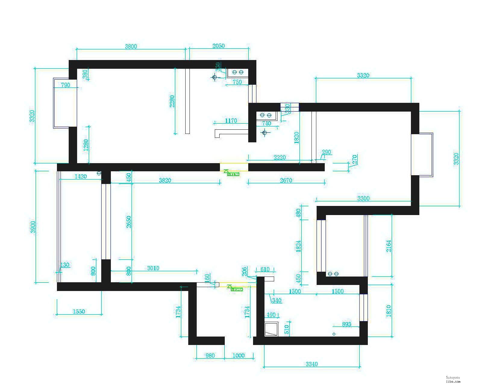 室内装修电路暗线图