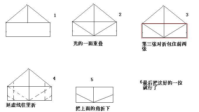 二纸元宝的折法步骤图