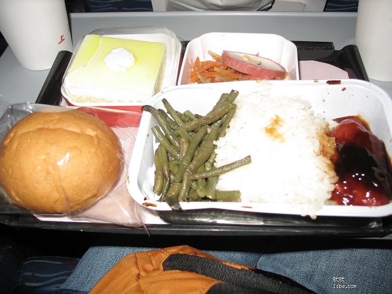 上航飞机餐:猪肉饭
