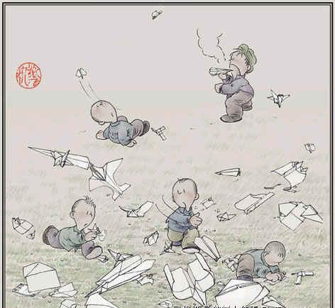 小时候的游戏--纸飞机