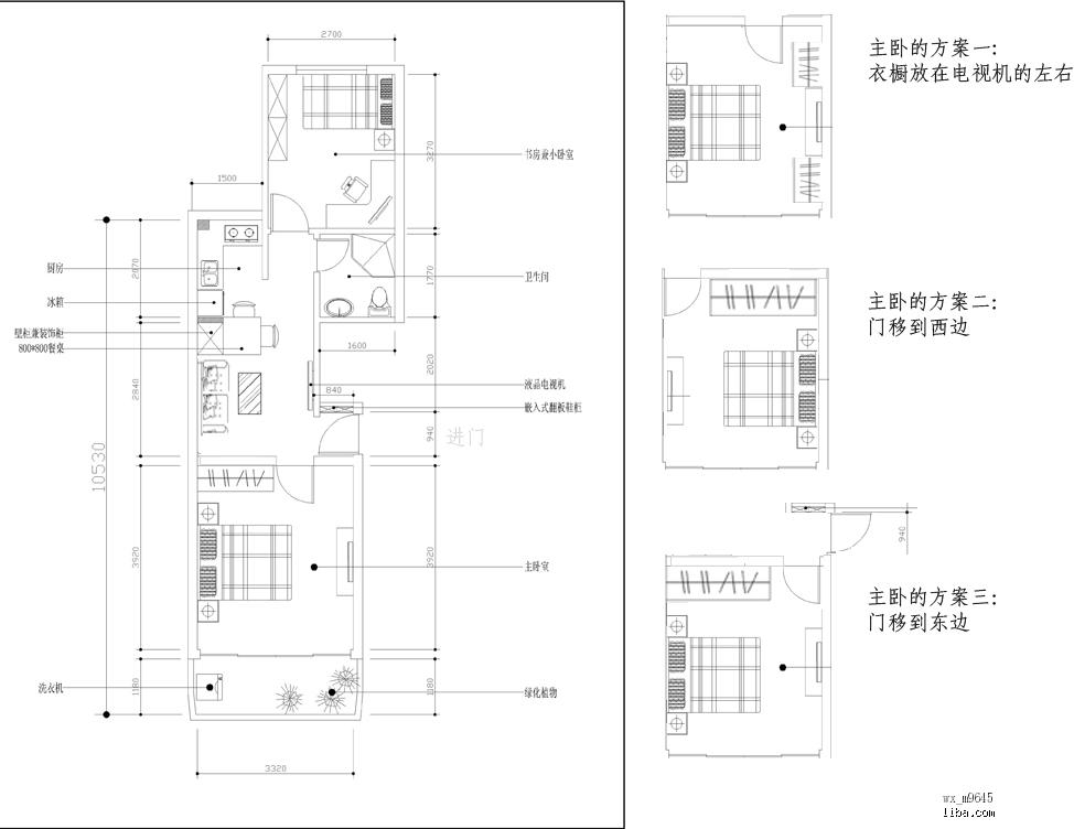 6的两室小房,设计图出来了