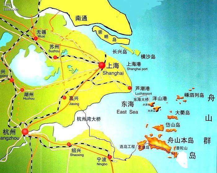 舟山本岛地图地