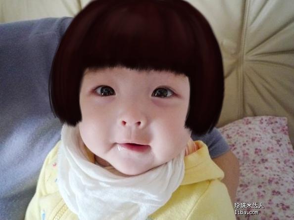 满月女宝宝可爱发型