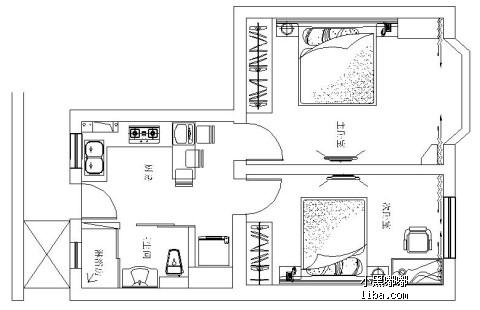 二室一厅欧式房子外观设计图